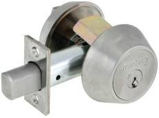 Bolt mechanism designed to accommodate both mortise and drive-in applications, which provide greater flexibility and ease of installation. Solid brass collar spins under pressure to prevent wrench attacks. Large thumbturn provides ease of use...