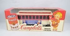 Scale Models Campbell (Campbell's Trolley Car Bank Scale Model Very Detailed Workmanship 1994 Copyright)
