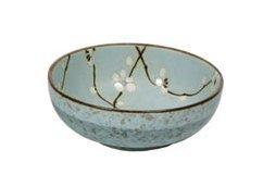 Japanese Set of Four 6'' Porcelain Spring Blossom Bowls by Yokohama Gifts