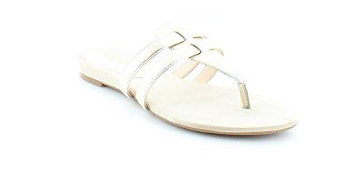 Nine West Women's Outside Synthetic Dress Sandal, Light Gold, 5.5 M US