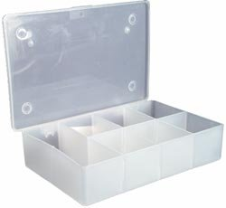 Bulk Buy: Darice Floss Caddy 7 Compartment 4 1/2''X7''X1 1/2'' 10689B (3-Pack) by Darice