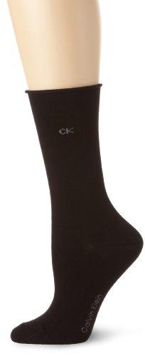Calvin Klein Women's 3 Pack Roll Top, Black, One Size (Klein Roll)