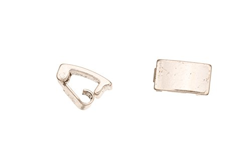 Bracelet Buckle/Watch Clasp Fold-Oval Buckle Silver Plated Copper, 10X6mm sold per 12pcs ()