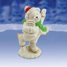 Lenox Skating Bear China Figurine In Gift Box NEW - Skating Lenox