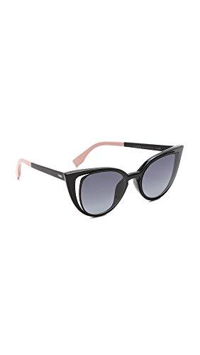 fendi-womens-cutout-cat-eye-sunglasses-matte-shiny-black-grey-one-size