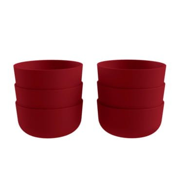 COZA DESIGN- Cozy Bowl Set- 12 oz (Set of 6) (Set of 6, Bold Red)