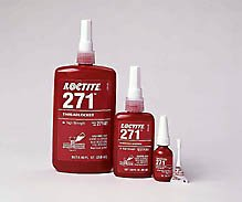 Loctite 271 Threadlocker - Red Liquid 1 L Bottle - Tensile Strength 250 psi [PRICE is per BOTTLE] by Loctite