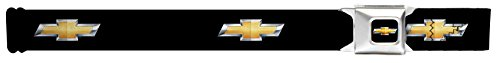 [Buckle Down Big Boys Chevy Bowtie Black/gold Logo Seatbelt Belt, multi, Regular] (Buckle Down Belt Buckles)