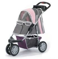 InnoPet Pet Stroller,IPS-09,Pink/Grey, Dog Carrier, Trolley, Trailer, Buggy First Class. Fold able pet Buggy, Pushchair, pram for Dogs and Cats