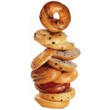 Burry Foodservice Thaw and Sell Sliced Blueberry Bagel, 4.67 Ounce - 24 per case.
