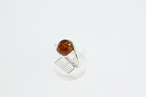 Bague en Ambre 30-01 - Bijoux en argent rhodié et Ambre - Toutes tailles et diverses pierres - ARTIPOL