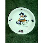 Vintage Shenango China Nursery Rhyme Mistress Mary Child's Berry / Sauce Dish