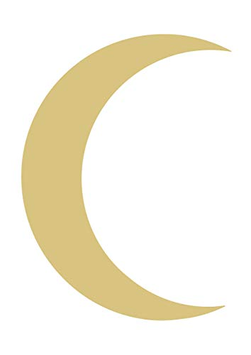 - Crescent Moon Unfinished MDF Wood Cutout Variety of Sizes USA Made Home Decor (24