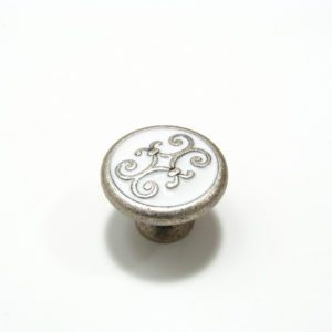 Traditional Brass and Enamel Knob - ()