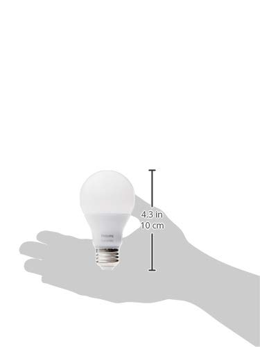 Philips Hue White A19 2-Pack 60W Equivalent Dimmable LED Smart Bulbs (Hue Hub Required, Works with Alexa, HomeKit & Google Assistant), Old Version