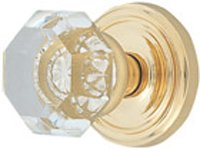 Crystal Astoria Clear (Emtek Products Crystal Knobset Privacy (8200US3))