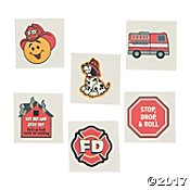 (Fun Express Fireman Fire Safety Temporary Tattoos for Kids, 72 Count)