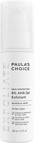 (Paula's Choice-SKIN PERFECTING 8% AHA Gel Exfoliant with Glycolic Acid Chamomile & Green Tea, 3.3 Ounce Pump Leave-On Gentle Exfoliator for Normal, Dry, Oily, and Combination Skin)