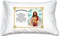 First Communion Jesus Prayer Pillowcase by Holy Family goods