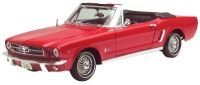 1964 1/2 Ford Mustang Convertible diecast model car 1:18 scale die cast by Motor Max - Red (Mustang Convertible Model)