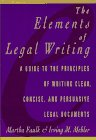 The Elements of Legal Writing, Faulk, Martha and Mehler, Irving M., 0025370456
