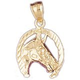 CleverEve 14K Gold Pendant Horseshoes 1.8 Grams