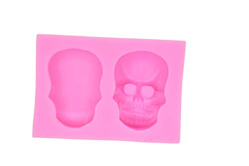 3D Skull Silicone Mould Fondant Sugar Clay Hallows' Day Jewellery Fimo Button Cake Mold Chocolate Mold ()