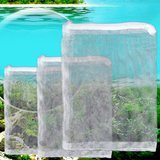 Ioffersuper 5X Aquarium Filter Zipped Net Mesh Bag Fish Tank Zip Filter Bags 1421 cm ()