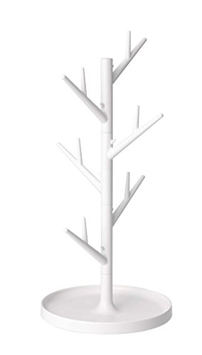 Modern Design Tree Branch Glass Drainer Stand Tower with Tra