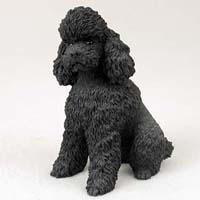 Poodle Sportcut Dog Figurine - Black