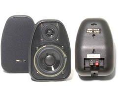 "BIC America 3-1/2"" 2-Way Bookshelf Speakers (Pair) Black DV32-B"