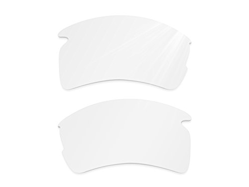 Glintbay Harden Coated Replacement Lenses for Oakley Flak 2.0 XL Sunglasses - Crystal Clear - Sunglasses Off White Small