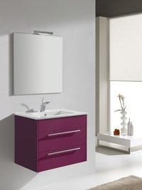 Meubles brenier - Ensemble meuble de salle de bain lille fushia 80cm ...