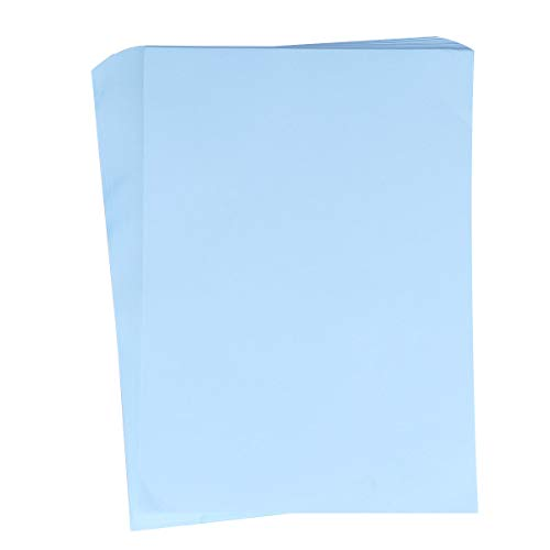 A4 Size Multipurpose Colored Paper Printing Folding Paper Handcrafts Typing Papers Manual Cutting Art Craft Paper for Office School Inkjet Printer (Sky Blue-100sheet/70g)