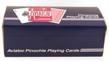 "PINOCHLE PLAYING CARDS-AVIATOR (12pk) by ""The United States Playing Card Co, Cincinnati, Ohio"""