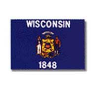 State Flag Wisconsin 12X18