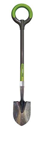 Radius Garden 258-Green Ergonomic Floral Shovel, Carbon Steel, Green