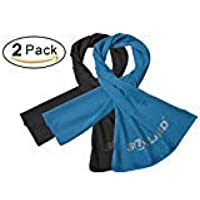 SUNLAND Cooling Towel New Ice Fabric Towel Sports Yoga Workout Gym Travel Camping(2 Packs)