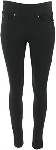 Belle Kim Gravel Flexible Pull-On Knit Jeggings Two Pockets Black 6 New A283921 from Belle by Kim Gravel