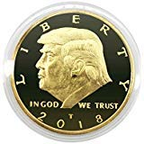 Plated Eagle Gold - President Donald Trump Commemorative Coin 2018, Gold Plated Eagle Collection Patriot Gift