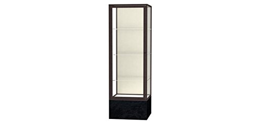 (Monarch Series Floor Display Case Base Color: Black Marble, Frame Color: Dark Bronze, Case Backing: Plaque Fabric )
