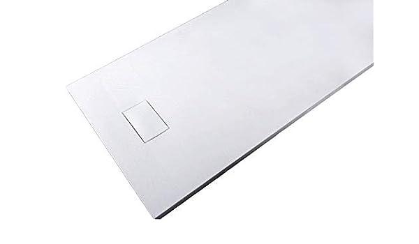 Plato de ducha rectangular SMC de 3,7 cm de alto, dimensiones y ...
