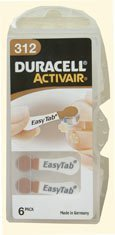 Duracell Activair Size 312 Hearing Aid Batteries (30 batteries)