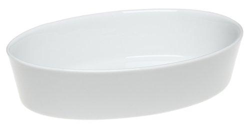 Pillivuyt Porcelain 2-Quart, 12-1/2-by-9-by-2-Inch Deep Oval Baker - Porcelain Baker