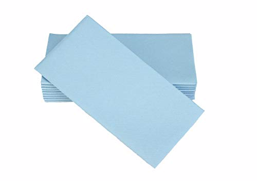 Simulinen Dinner Napkins - Disposable, Baby Blue, Cloth-Like - Elegant, Yet Heavy Duty Soft, Absorbent & Durable - 16
