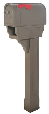 Hampton Pp300cmo Mailbox & Post Combo, Mocha Hampton Large Post