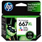 HP 667XL Tri-Color Ink Cartucho