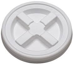 2 Gallon White Gamma Seal Lid-6 Pack