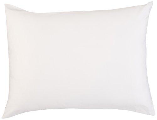 Coyuchi 1018486 Organic Pillow Protector Case, Standard, White