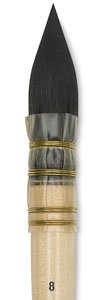 ISABEY 6234 Siberian Blue Squirrel Quill Mop Size 08 - Best Price on Web! by Isabey Kolinsky
